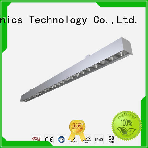 Top suspended linear led lighting suspension for business for office