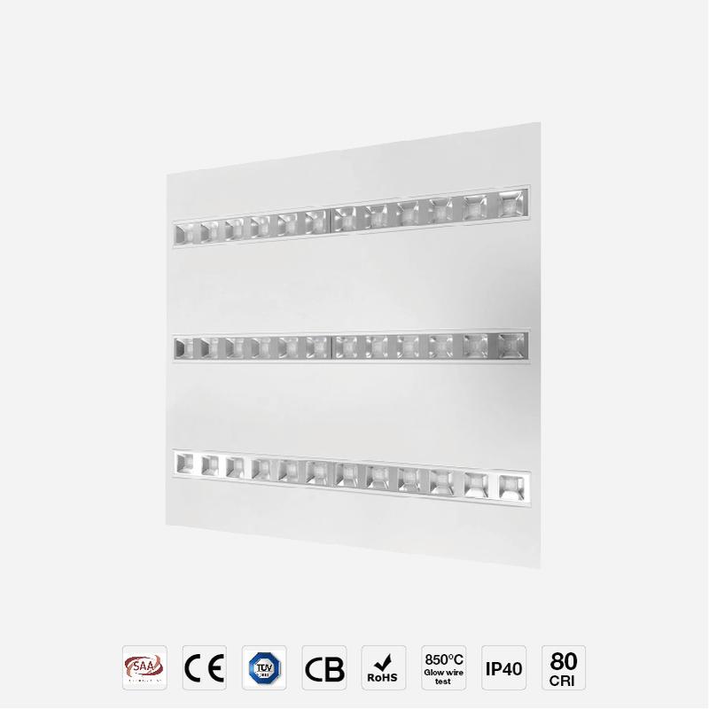 High Lumen Low UGR Reflector Panel 3 LED Module Changeable Panel Light