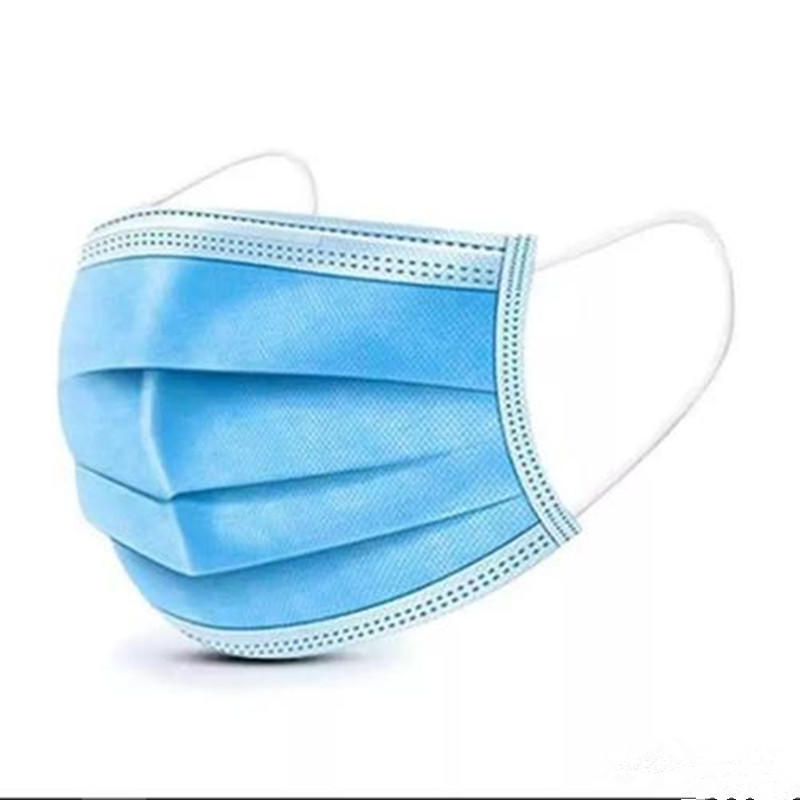 Disposable Personal Protective Face Mask with Ear Loops-3 ply