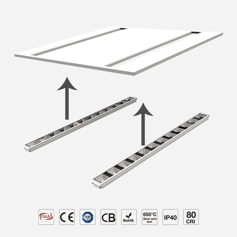 Reflector Mould LED Panel Light UGR<18.1 LED Module Changeable