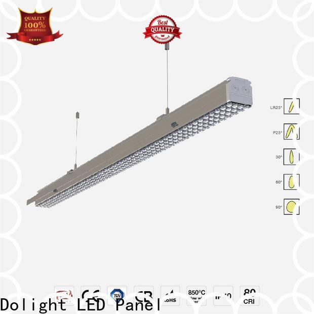 Custom led linear suspension lighting installation supply for boardrooms